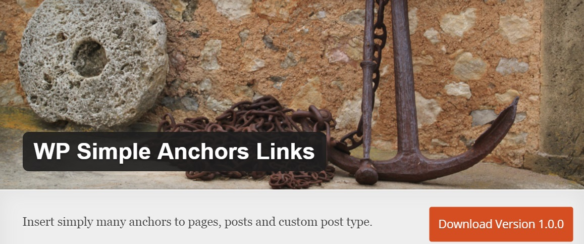 wordpress如何加入錨點:WP Simple Anchors Links